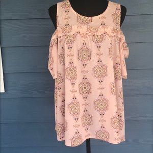 Laura Conrad cold shoulder blouse